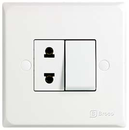 Broco Electrical - Single Switch & Universal Socket Outlet