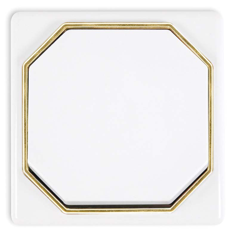 Broco Catania Series - White with Gold Ring