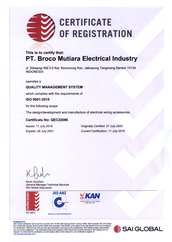 Broco Electrical certificate
