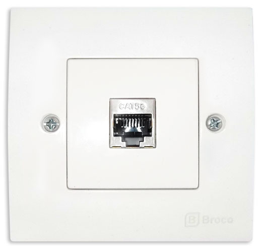Broco Electrical - Single Network Socket Outlet Cat.5e (RJ45)