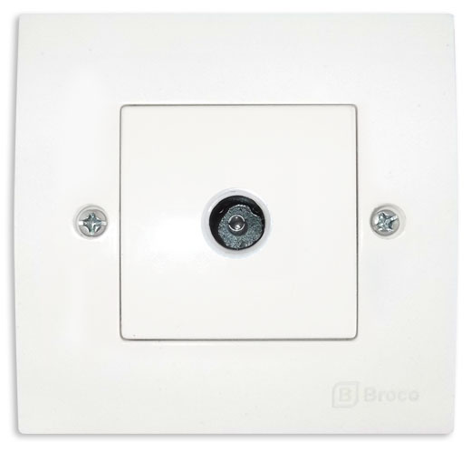 Broco Electrical - Antenna Socket Outlet for TV Only
