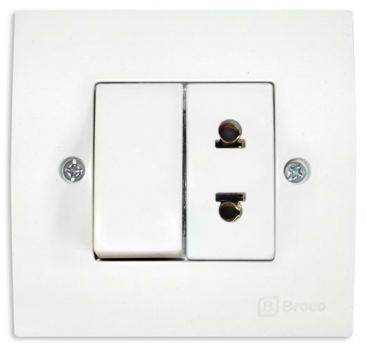 Broco Electrical - Universal Socket Outlet and Single Switch
