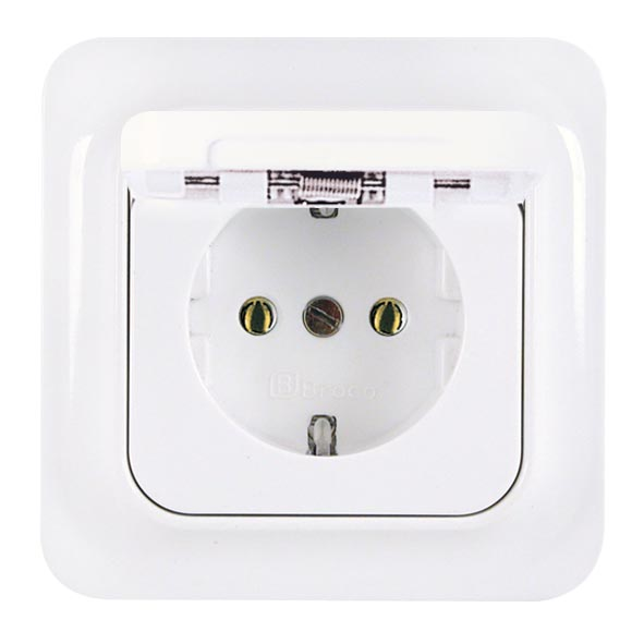Broco Electrical - Socket Outlet with Hinged Cover